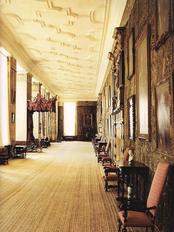 Long gallery in Hardwick Hall building