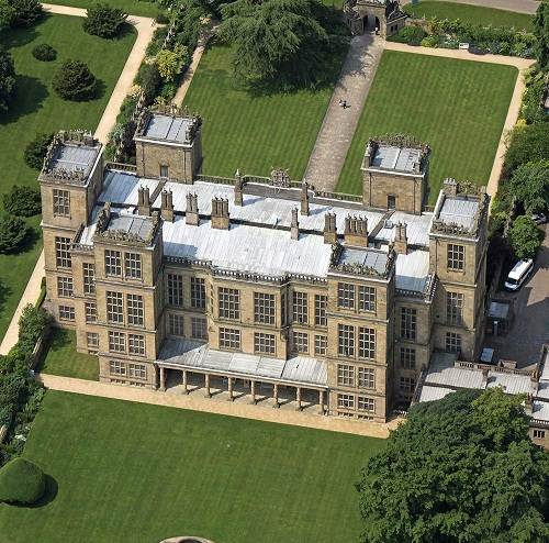 Aerial view of Hardwick Hall