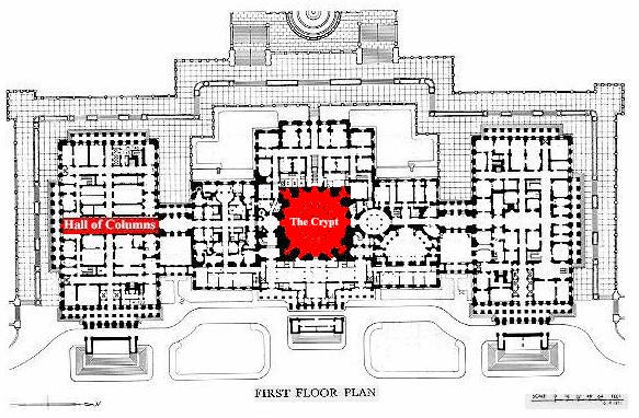 first floor plan of US capitol building