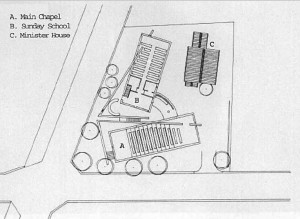 Church of the light plan & sketch
