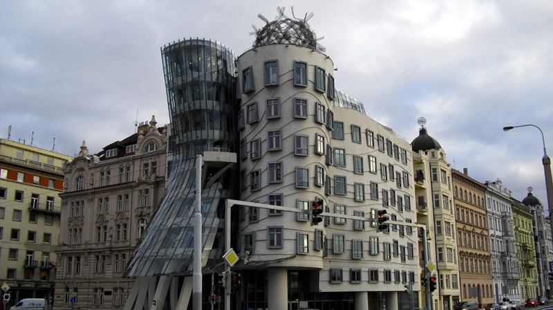 dancing house facade structure