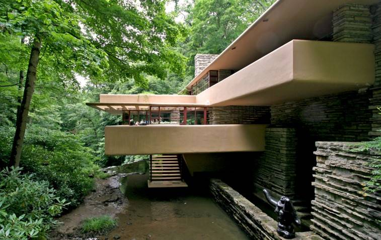 fallingwater kaufmann residence pennsylvania by frank lloyd wright architect boy. Black Bedroom Furniture Sets. Home Design Ideas