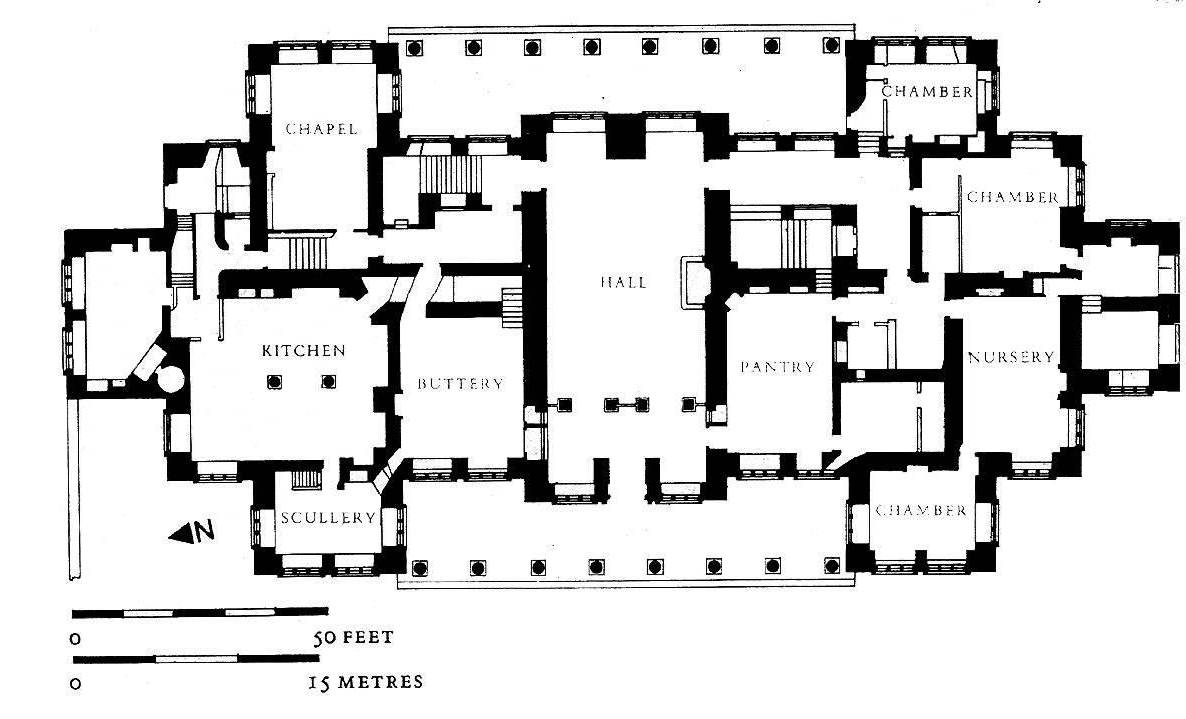 Hardwick Hall plan not to scale