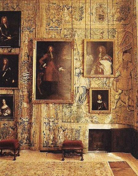 Corner of the Long Gallery in Hardwick hall