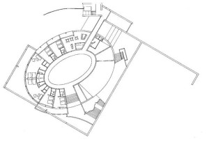 Naoshima Art Museum Plan and Sketch