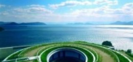 top view of naoshima art museum