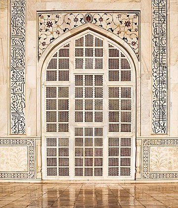 Taj Mahal door construction