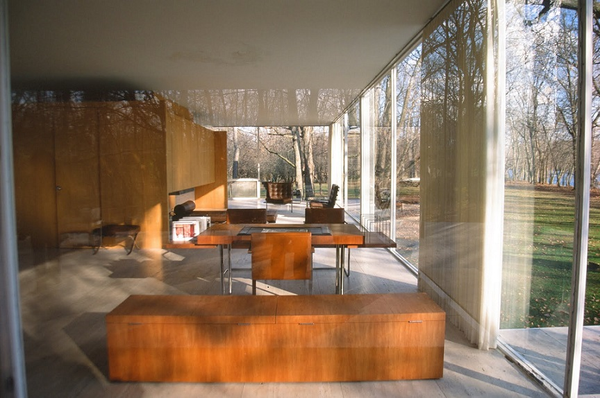 Interior of Farnsworth house
