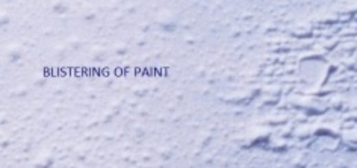 Blistering of paint