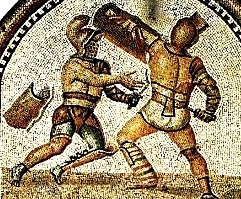 Gladiator fights in Colosseum