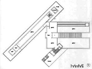 Plan of Langen Foundation by Tadao Ando in Neuss, Germany.