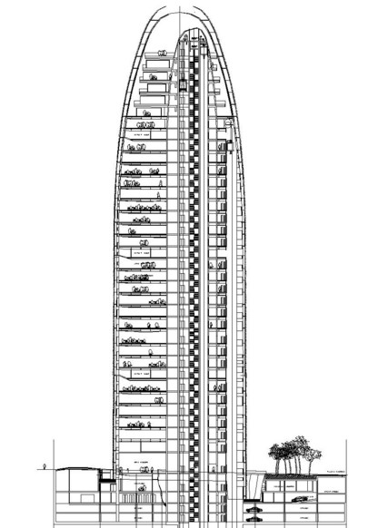 torre agbar section sketch