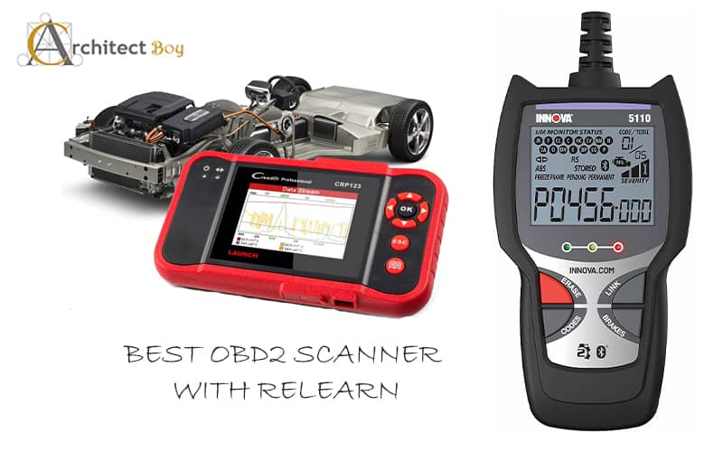 obd2 scanner with case relearn