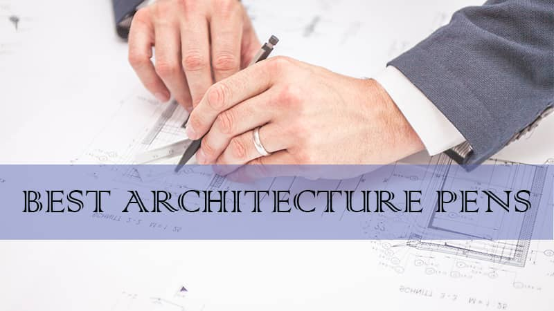 architects drawing pens